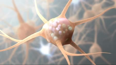 axon : 4K Intro Brain Impulses. Neuron System. Transferring Pulses And Generating 4K.From neurons during synapsis to a human head. Loopable. Biology. Stock Footage