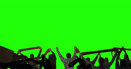 zöld : Layered Crowd on Green Screen