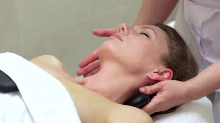 massages : Stone Therapy Stock Footage
