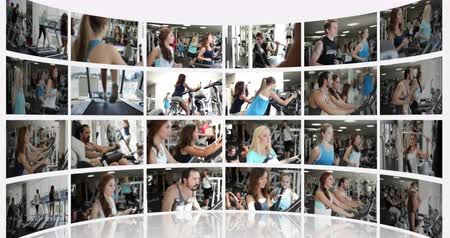 equipamentos esportivos : Not Moving Montage Presentation of a Fitness Centre