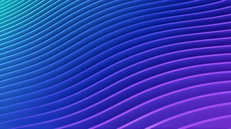 Rows of colorful blue and pink stripes waving and swaying seamless loop. Geometric abstract background with bright strips rippling 3D animation. Vibrant looping motion graphics backdrop in 4k Dostupné videozáznamy