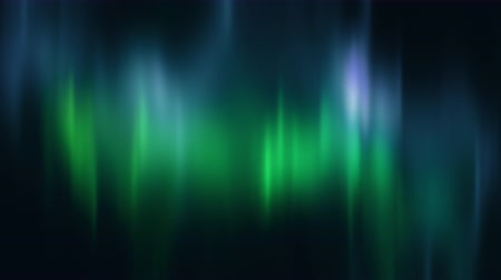 явление : Realistic Aurora Borealis or Northern lights seamless loop. Bright green and blue polar light curtains on black background. Looping 3D animation overlay with alpha channel matte for compositing Стоковые видеозаписи