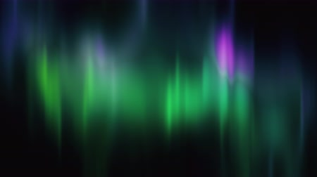 arktický : Realistic Aurora Borealis or Northern lights seamless loop. Bright green and purple polar light curtains on black background. Looping 3D animation overlay with alpha channel matte for compositing