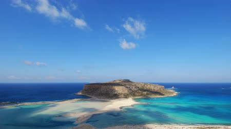 jasno : Time lapse clip of shadows and clouds of Balos bay