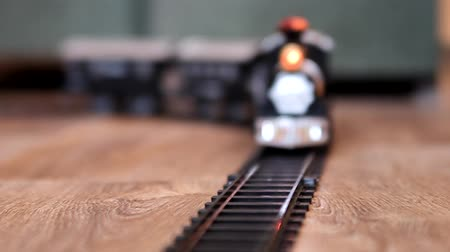 zabawka : Black train toy. Selective focus with shallow depth of field.