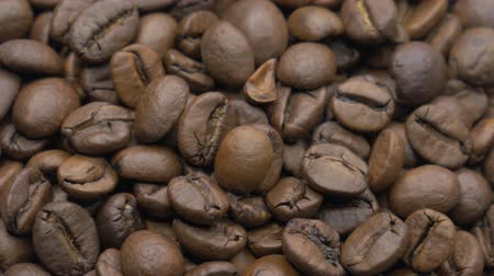 Roasted coffee beans. Selective focus.