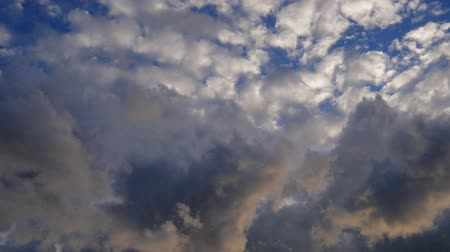 Moving clouds on sky. Nature background.