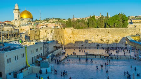 pielgrzymka : The view on the Western Wall, the holiest place among jews in Jerusalem