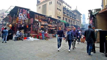khalili : CAIRO, EGYPT - DECEMBER 20, 2017: Khan El Khalili bazaar is one of the most popular tourist locations in Islamic Cairo, its best place to buy some souvenirs, Cairo.