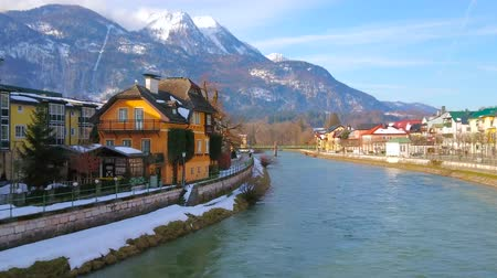 townhouse : Bad Ischl boasts numerous preserved historic townhouses and mansions, the most interesting are located along the Traun river, Salzkammergut, Austria