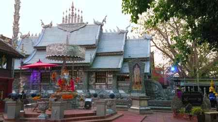 ganesha : CHIANG MAI, THAILAND - MAY 4, 2019: The shrine of Ganesha in front of the great Silver Temple (Wat Sri Suphan) complex, decorated with hand crafted silver, on May 4 in Chiang Mai