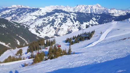 ski run : The slope of Schmitten mount - the main winter attraction of Zell am See, famous among skiers, snowshoers and other sportsmen and active tourists, Austria