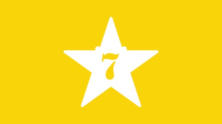 секунды : Countdown from 10 to 1. Simple countdown with star on yellow background.