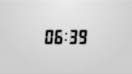 десять : Countdown of 10 seconds. Digital clock black numbers on white background.