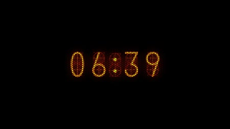 Countdown of 10 seconds. Retro nixie tube digital number display. Nostalgic type. Stock Footage