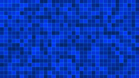 Mosaic pattern of blue. Geometric square tiles. Seamless loop background. Stock Footage