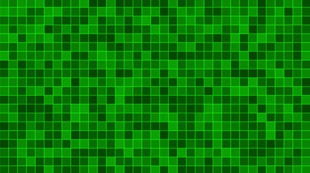 Mosaic pattern of green. Geometric square tiles. Seamless loop background. Stock Footage