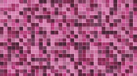 Mosaic pattern of pink. Geometric square tiles. Seamless loop background.