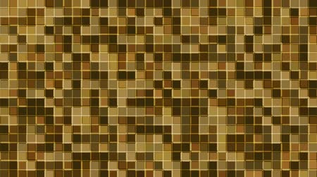 Mosaic pattern of brown. Geometric square tiles. Seamless loop background. Stock Footage