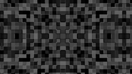 Mosaic pattern of black. Geometric square tiles. Seamless loop background.