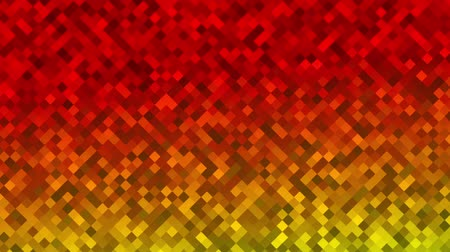 Mosaic pattern of red gradient. Geometric rhombus tiles. Seamless loop background.