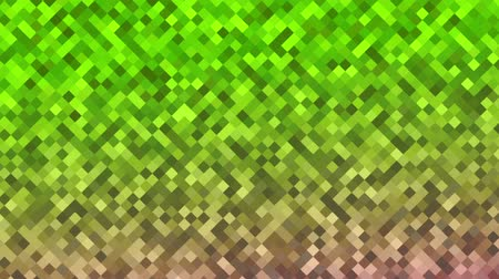 Mosaic pattern of green gradient. Geometric rhombus tiles. Seamless loop background. Stock Footage