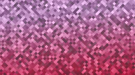 Mosaic pattern of pink gradient. Geometric rhombus tiles. Seamless loop background. Stock Footage