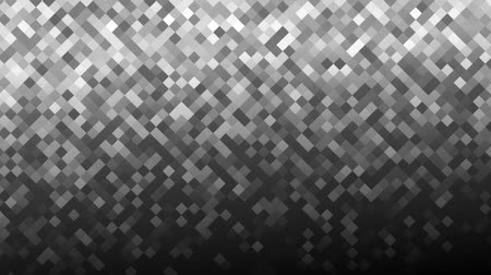Mosaic pattern of gray gradient. Geometric rhombus tiles. Seamless loop background.