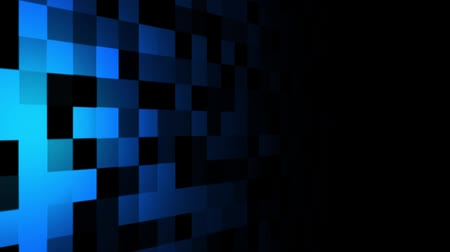 Mosaic pattern of blue. Screen spotlight move. Seamless loop background.