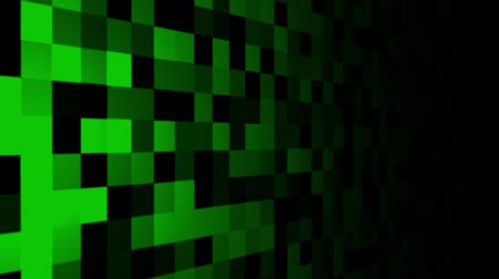 Mosaic pattern of green. Screen spotlight move. Seamless loop background.