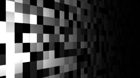 Mosaic pattern of gray. Screen spotlight move. Seamless loop background.