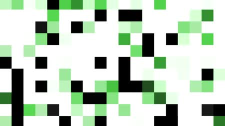Mosaic pattern of green. Screen transition white to black. Seamless loop background. Stock Footage