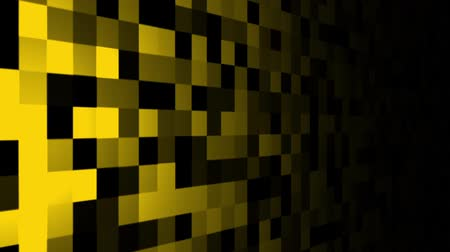 Mosaic pattern of yellow. Screen spotlight move. Seamless loop background.