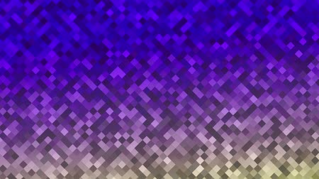 Mosaic pattern of purple gradient. Geometric rhombus tiles. Seamless loop background.