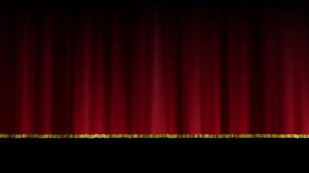 perdeler : Stage curtain opening and closing. Open up and down. Background black.