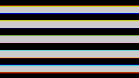 aberration : Striped black and white of horizontal. Chromatic aberration. Seamless loop. Stock Footage