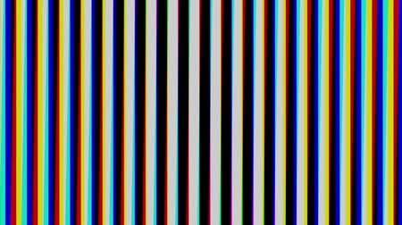 aberration : Striped black and white of vertical. Chromatic aberration. Seamless loop.