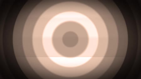 sepya : Retro light sepia concentric circles wave. Old film style. Seamless loop. Stok Video