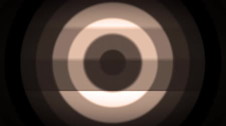 sepya : Retro dark sepia concentric circles wave. Old film style. Seamless loop. Stok Video