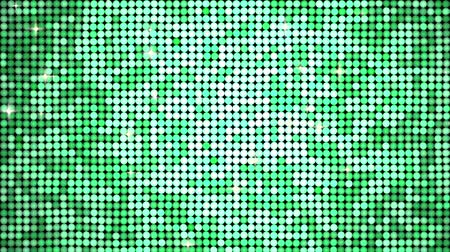 lentejoula : Shining spangles of green. Dot lights reflecting and sparkling. Seamless loop.