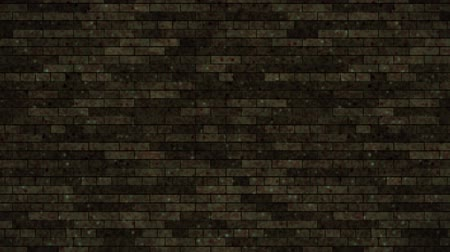 quebrado : Breaking dark brick wall. Black and green background. All collapse.