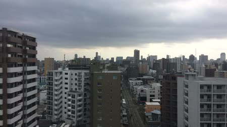 Mostly cloudy and Sapporo City timelapse