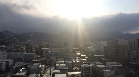 City of Sapporo after the rain time lapse Wideo