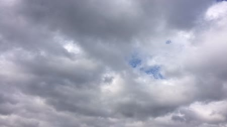 Clouds and a little blue sky time lapse