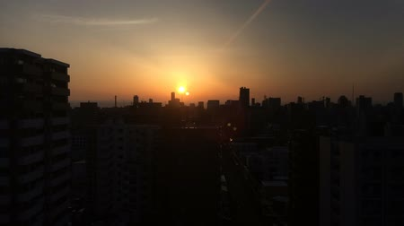 Morning Sun City average time lapse. Wideo
