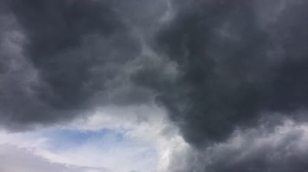Dark clouds and blue sky time lapse