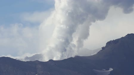fumarole : Volcanic activity in Kamchatka.
