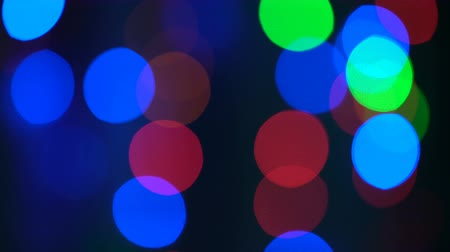 привет : Colorful bokeh and christmas lights