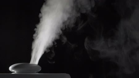 ionizing : Vapor from humidifier Stock Footage