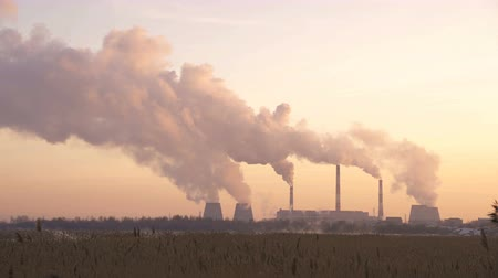 cooling : Industry Pipes Pollute the Atmosphere With Smoke